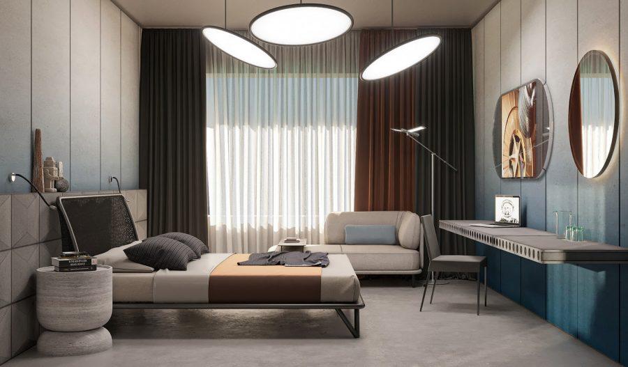Phòng ngủ với phong cách nội thất hiện đại