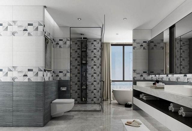 mẫu trần thạch cao toilet đẹp