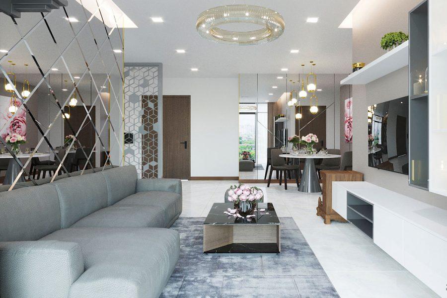 Thiết kế phòng khách nội thất đẹp