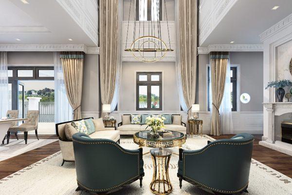 Thiết kế phòng khách với phong cách nội thất hiện đại