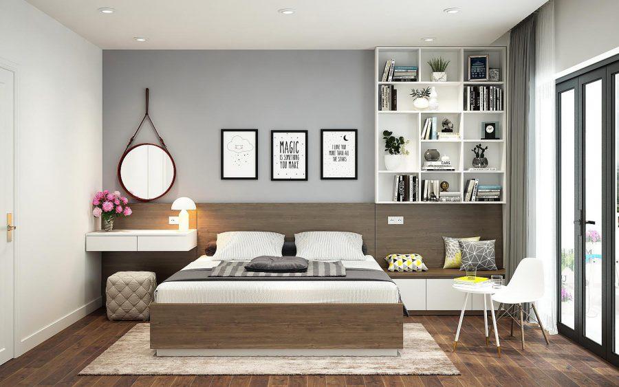 Thiết kế đem đến sự hài hòa, nhã nhặn cho phòng ngủ nhà bạn