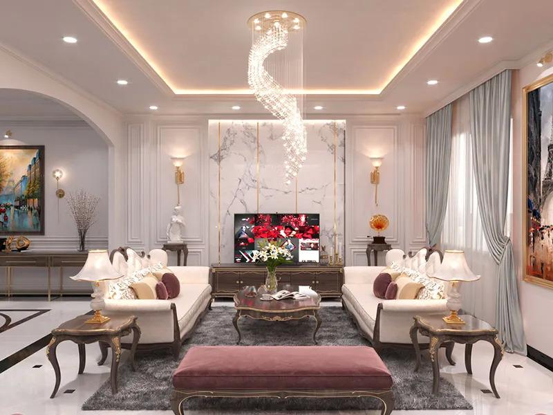 Thiết kế nội thất biệt thự hợp phong thủy, xu hướng thiết kế tương lai