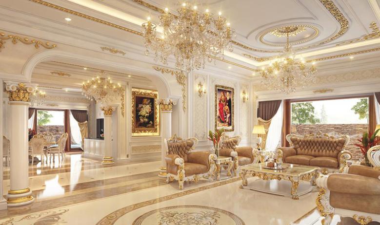 Thiết kế nội thất biệt thự phong cách cổ điển sang trọng
