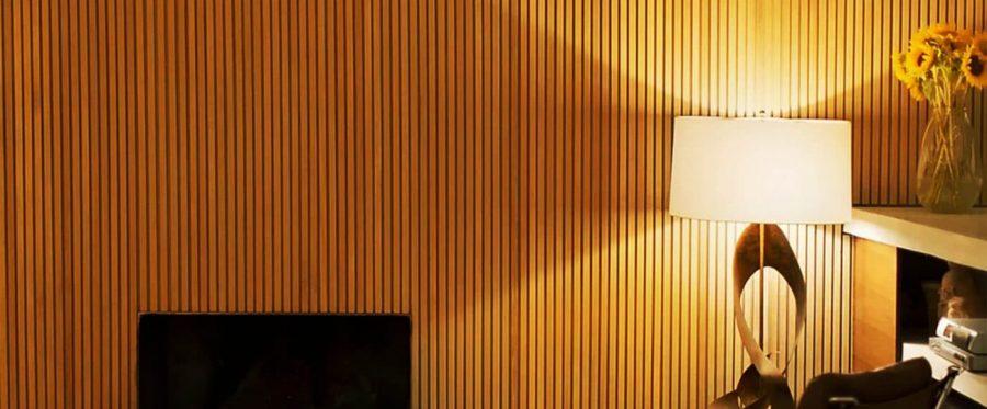 Mẫu vách lam vân gỗ chắn nắng