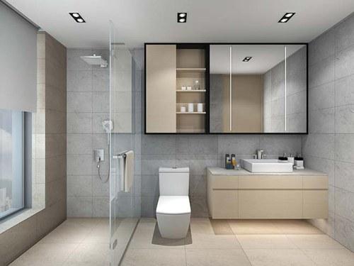 Mẫu trần thạch cao nhà vệ sinh khách sạn đơn giản