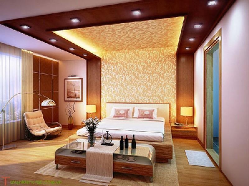 mẫu trần nhôm đẹp phòng ngủ sang trọng