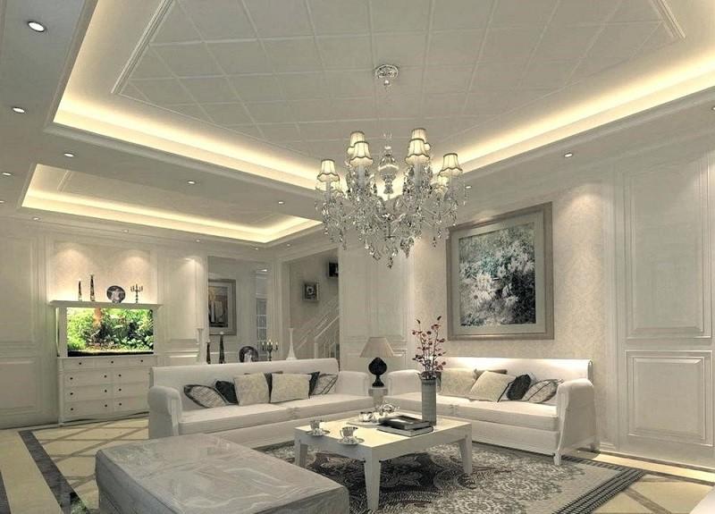 Mẫu trần nhôm phòng khách đẹp