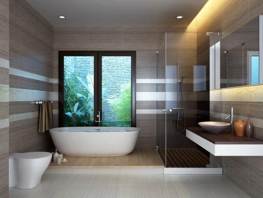 Mẫu trần thạch cao phẳng nhà vệ sinh và nhà tắm