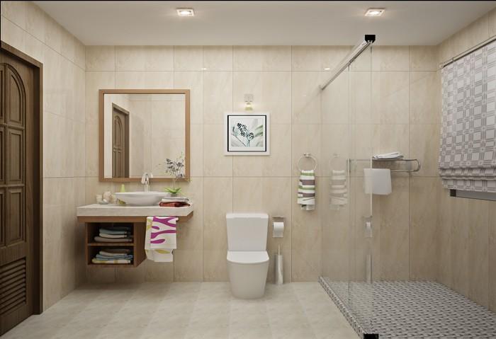 Mẫu trần thạch cao nhà vệ sinh cho các quán ăn đơn giản
