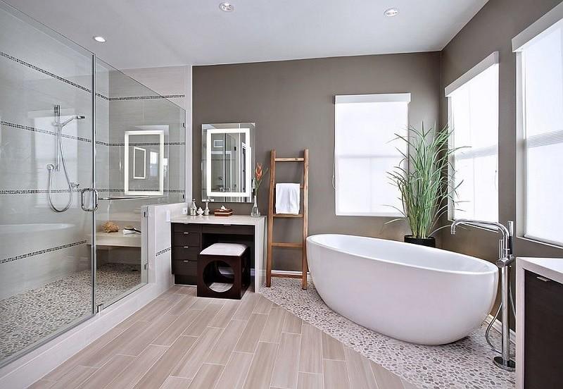 Mẫu trần thạch cao nhà vệ sinh kết hợp nhà tắm hiện đại