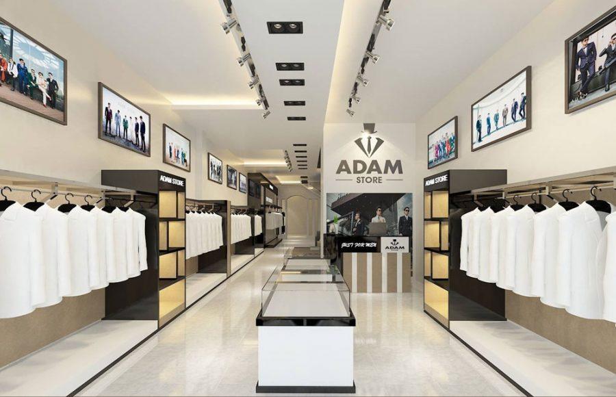 Mẫu trần thạch cao shop thời trang