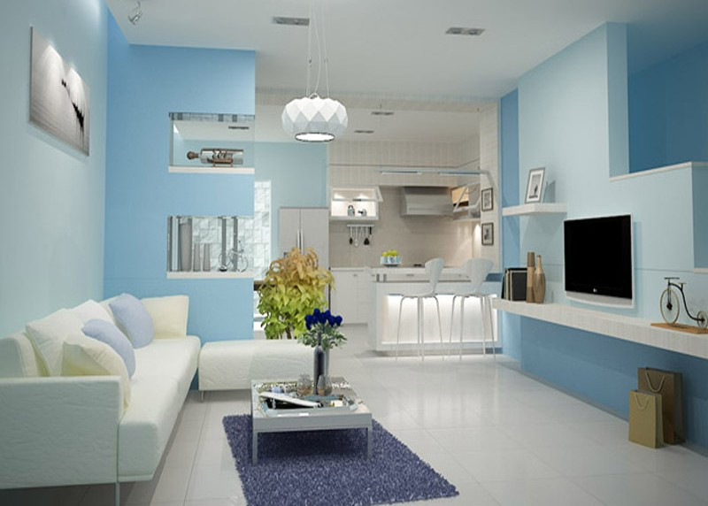Báo giá sơn tường trong nhà màu xanh đẹp