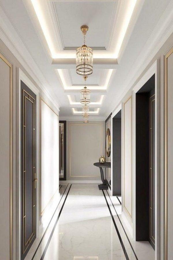 trần thạch cao hành lang đẹp