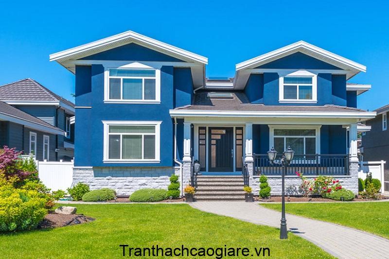 sơn tường nhà màu xanh trọn gói giá rẻ