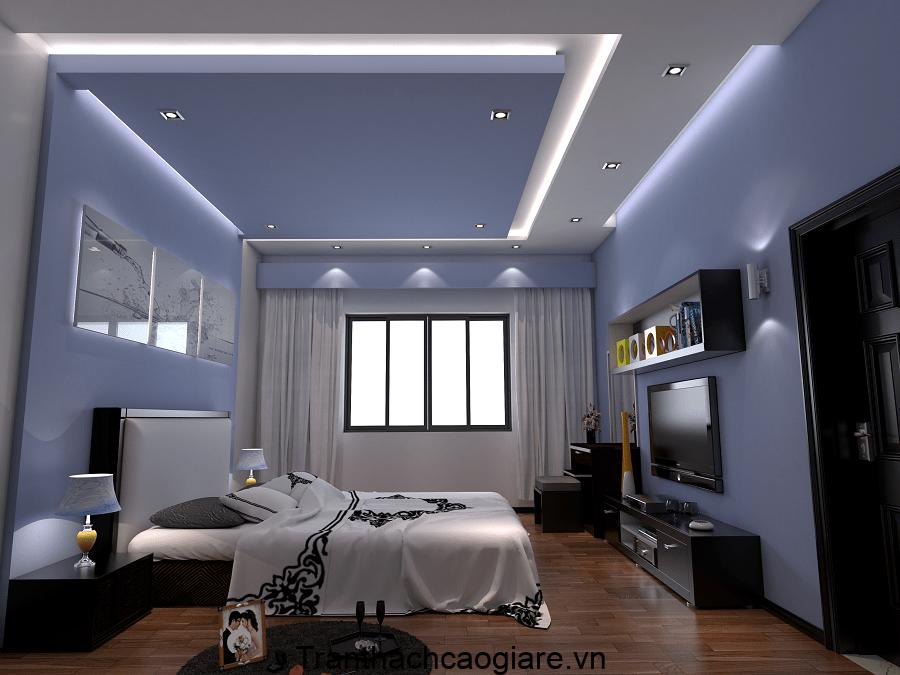 Mẫu trần thạch cao hộp phòng ngủ đơn giản, thanh lịch