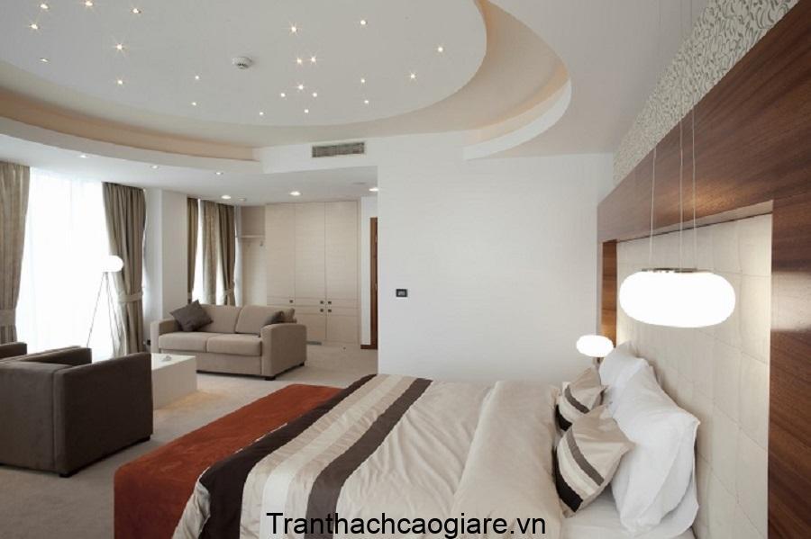 Thiết kế trần thạch cao Elip cho phòng ngủ giá rẻ
