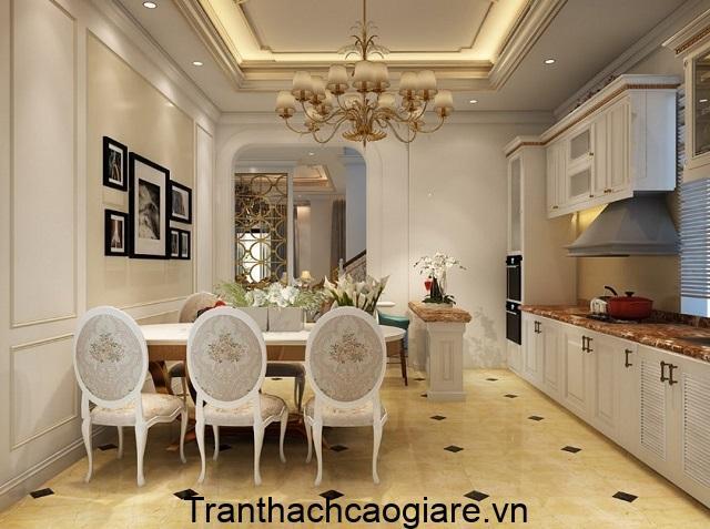 Trần thạch cao diện tích nhỏ phòng bếp
