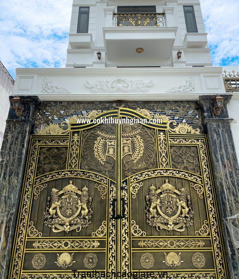 Mẫu cửa sắt hoa văn mỹ thuật đẹp
