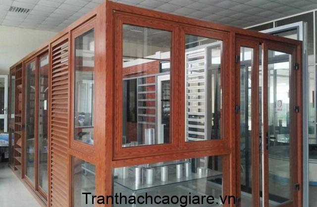 Mẫu cửa nhôm vân gỗ đẹp