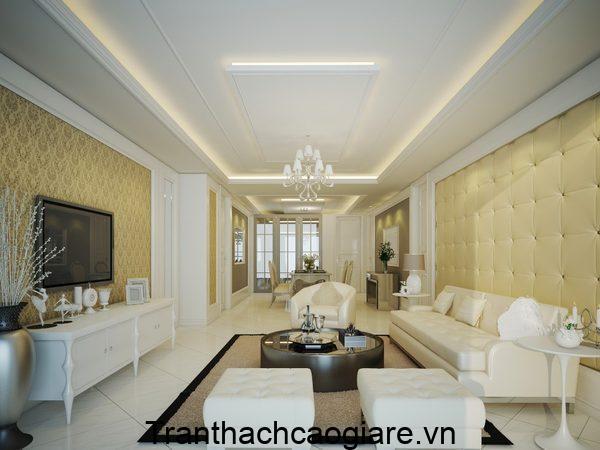 Mẫu trần thạch cao phòng khách đẹp không gian nhỏ