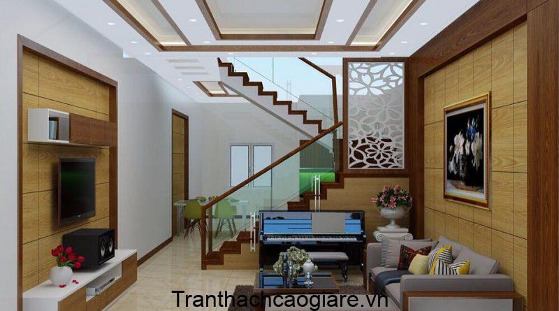 Mẫu trần gỗ kết hợp thạch cao đẹp