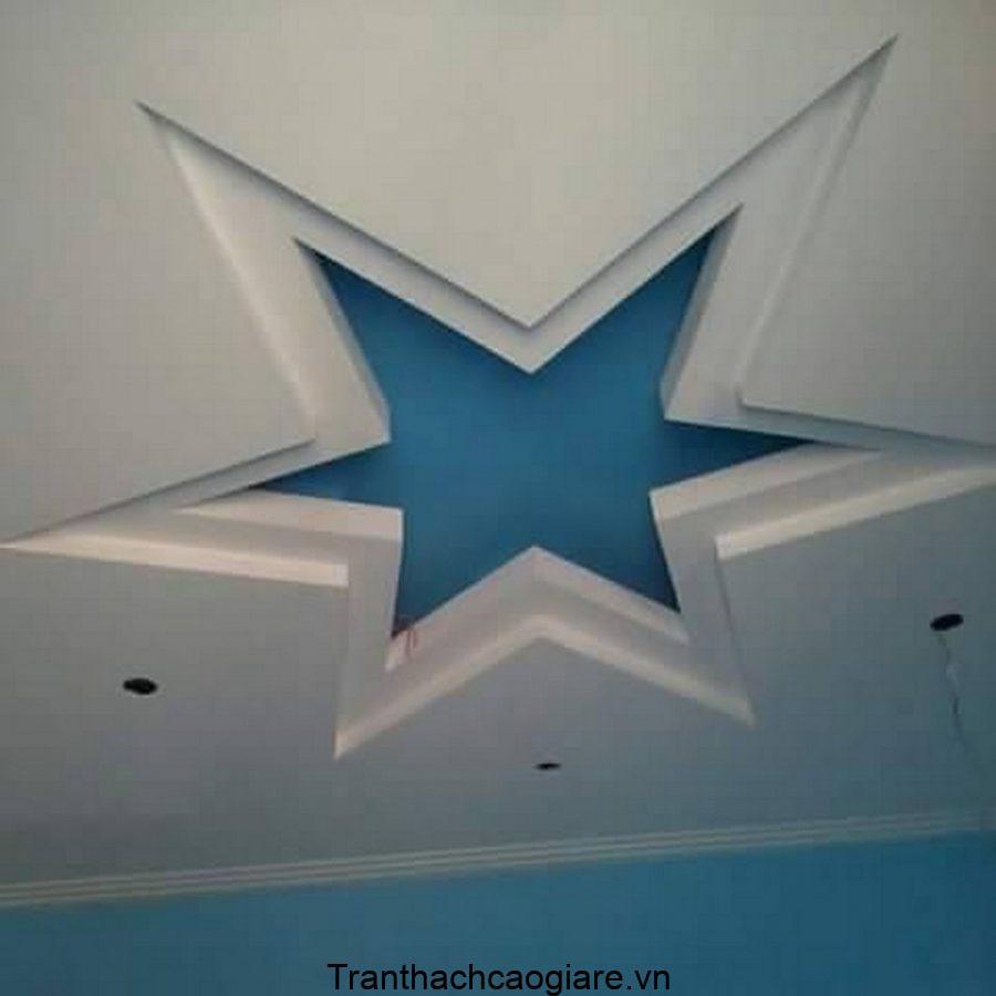 mẫu trần thạch cao hình ngôi sao 3 cấp