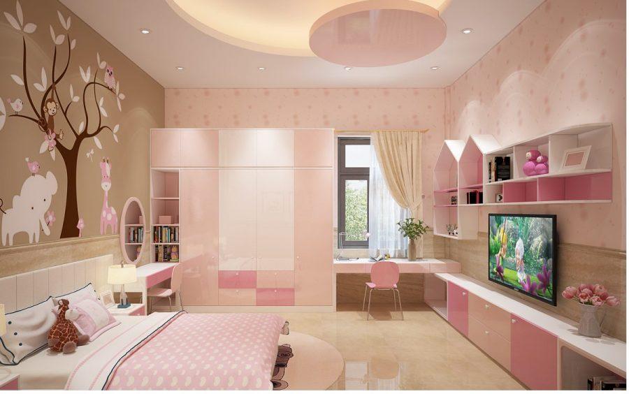 Các mẫu trần thạch cao phòng ngủ trẻ em