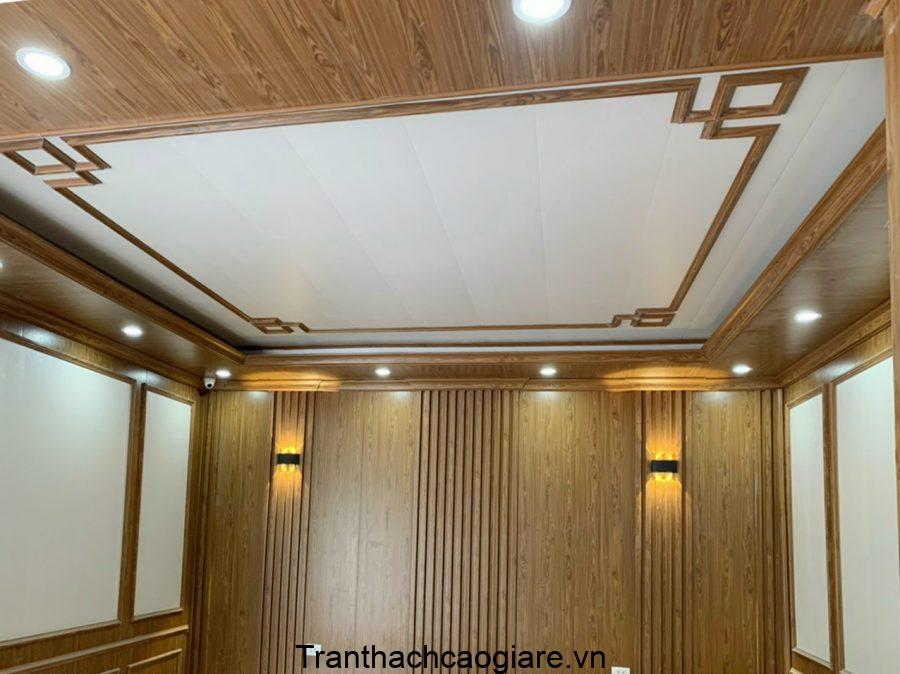 Tấm ốp trần tường bằng nhựa pvc giả gỗ