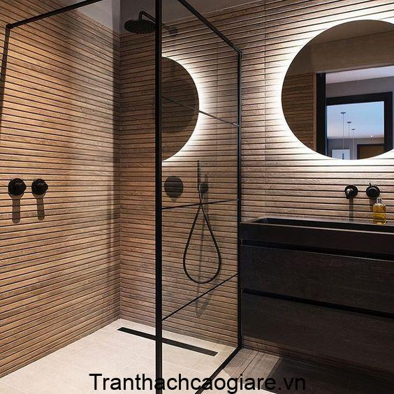 Mẫu trang trí gỗ nhựa ABT Wood cho khu vực phòng tắm