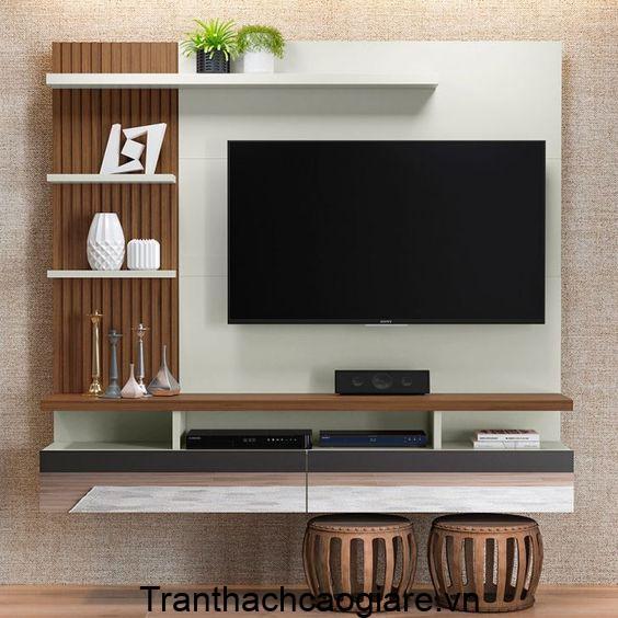 Mẫu trang trí gỗ nhựa ABT Wood cho phòng khách