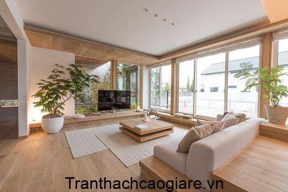 Mẫu sàn gỗ nhựa trang trí phòng khách