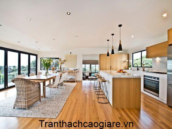 Mẫu sàn gỗ nhựa trang trí căn nhà hiện đại, hòa hợp thiên nhiên