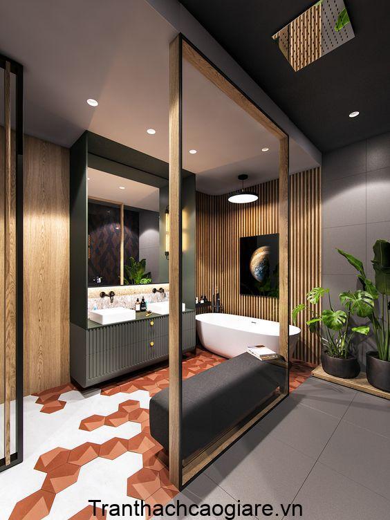 Mẫu trang trí gỗ nhựa ABT Wood cho phòng tắm