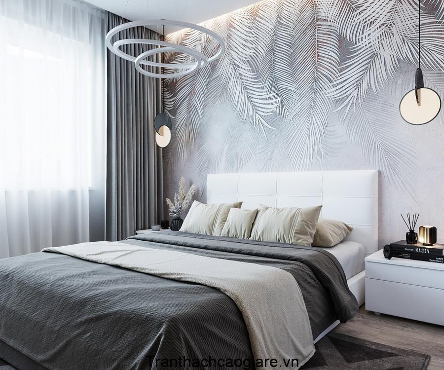 Giấy dán tường đơn giản, nhẹ nhàng cho phòng ngủ
