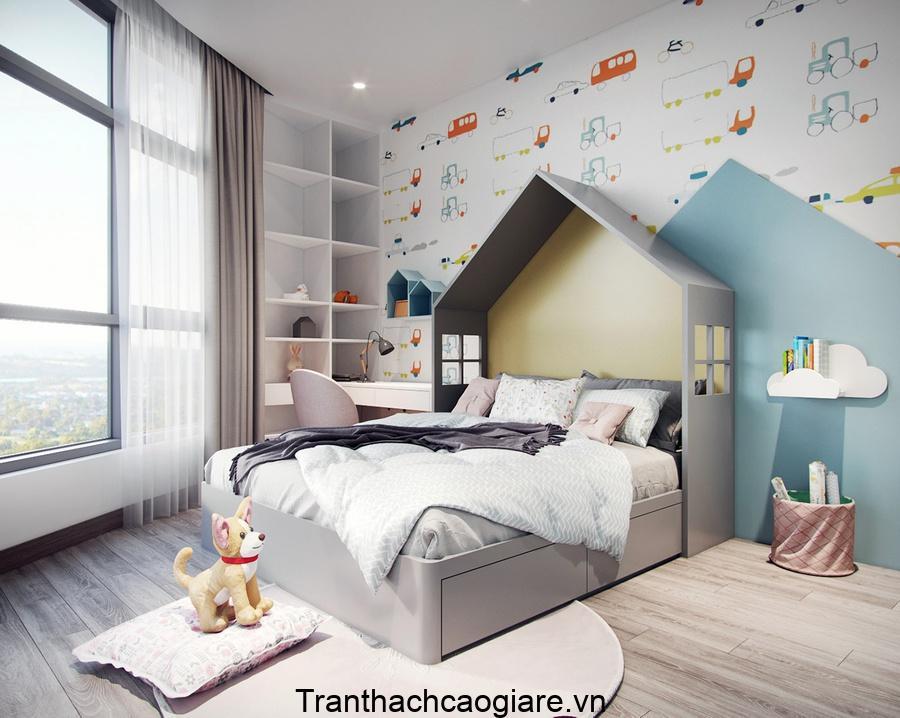 Giấy dán tường phòng ngủ dành cho các cậu bé năng động