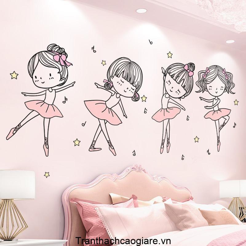 Giấy dán tường thể hiện ước mơ của các bé